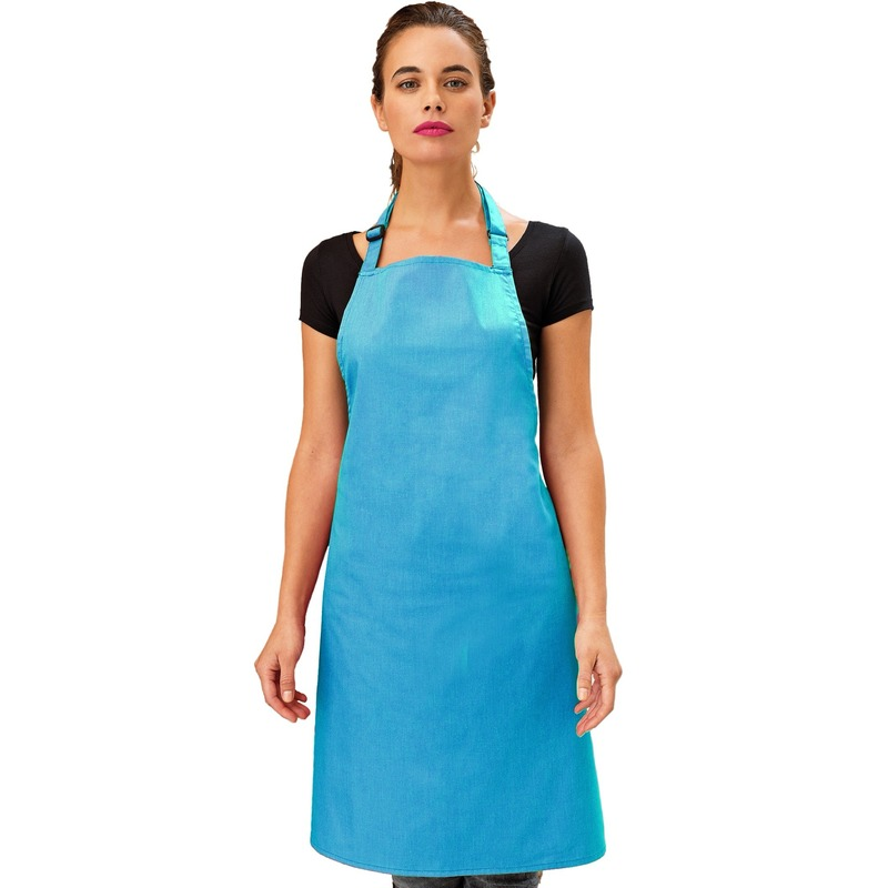 Katoenen keukenschort Premier tuquoise