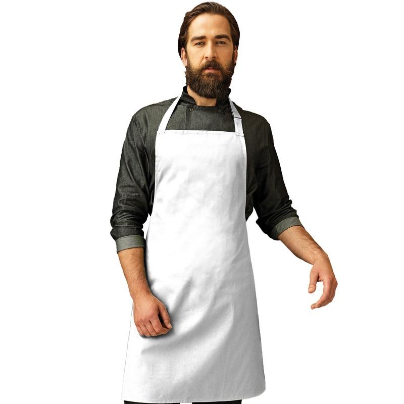 Katoenen keukenschort Premier wit