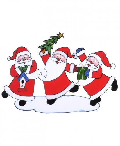 Kerst decoratie stickers kerstman plaatjes 40 x 27 cm
