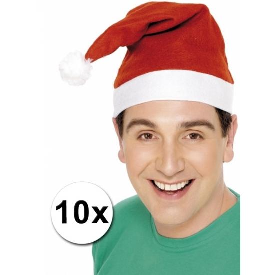 Kerstmutsen aanbieding 10 stuks