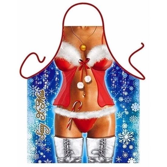 Keukenschort sexy Kerstvrouw