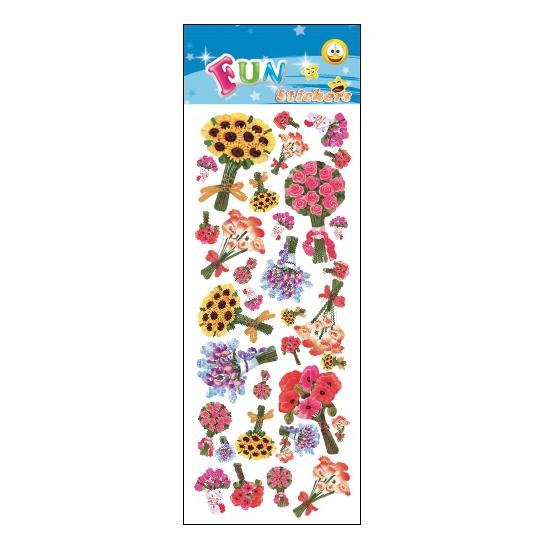 Kinder bloemen stickers