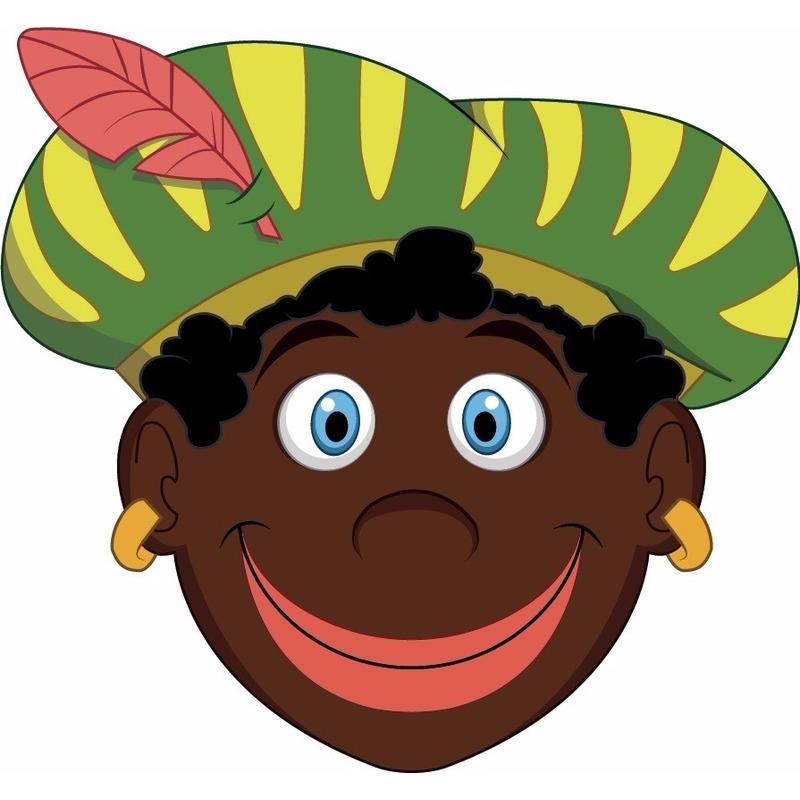 Kinder masker zwarte Piet