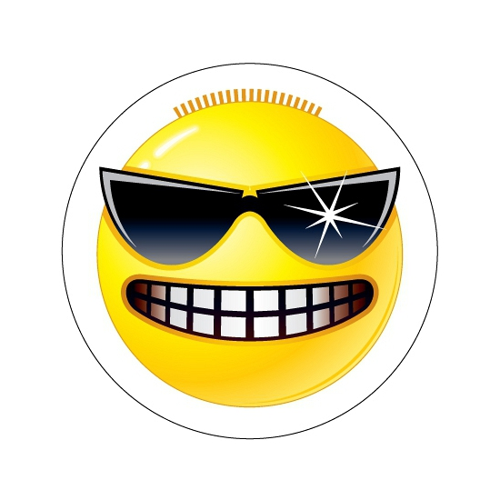 Kinder sticker Stoere Smiley type 3