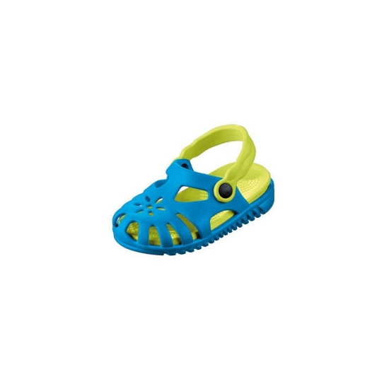 Kinder water sandalen blauw met lichtgroen