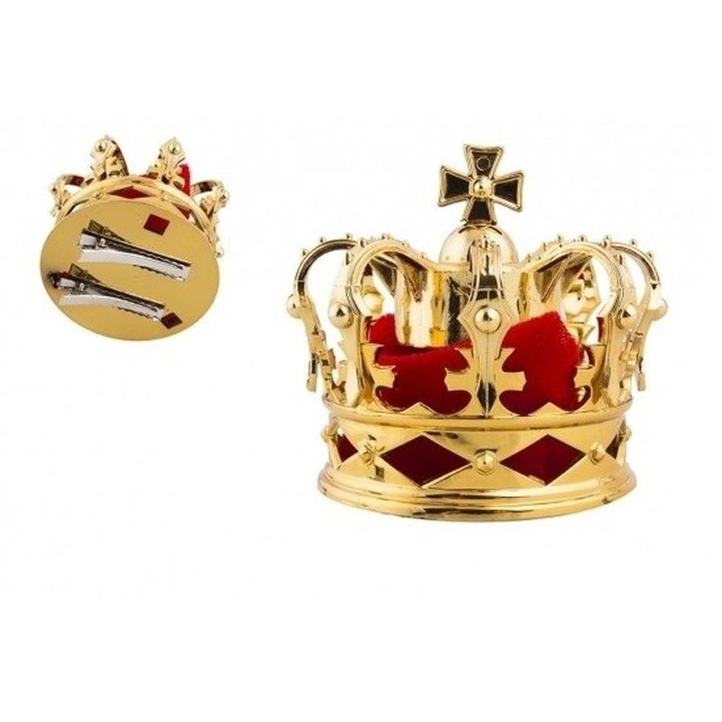 Kleine gouden kroon 8 cm