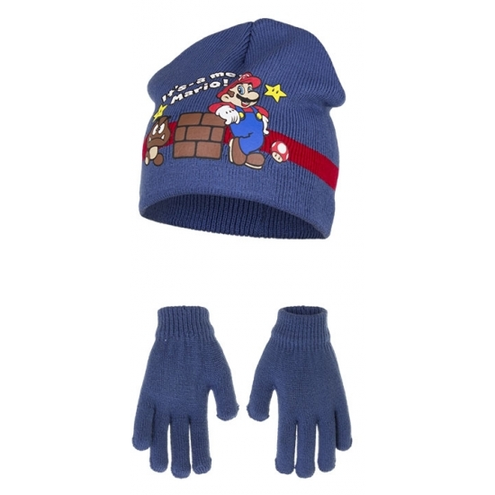 Kobalt blauwe Super Mario winteraccessoires