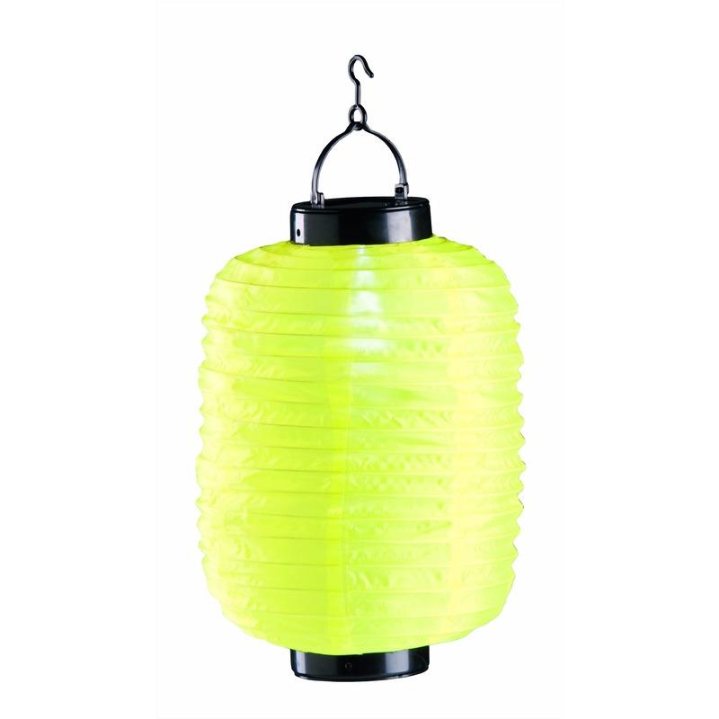 Lampion op zonne energie geel