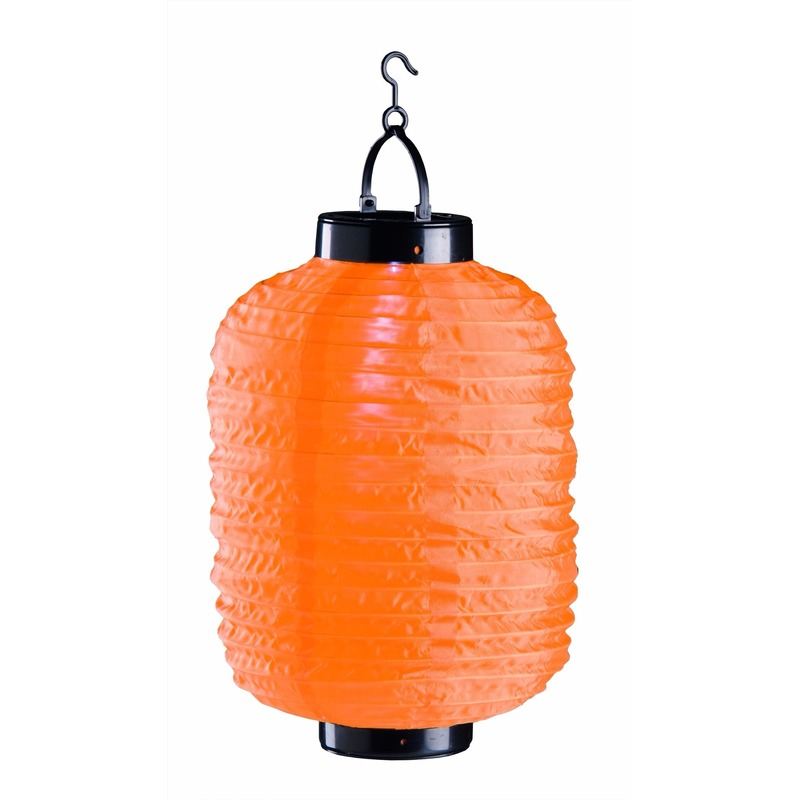 Lampion op zonne energie oranje