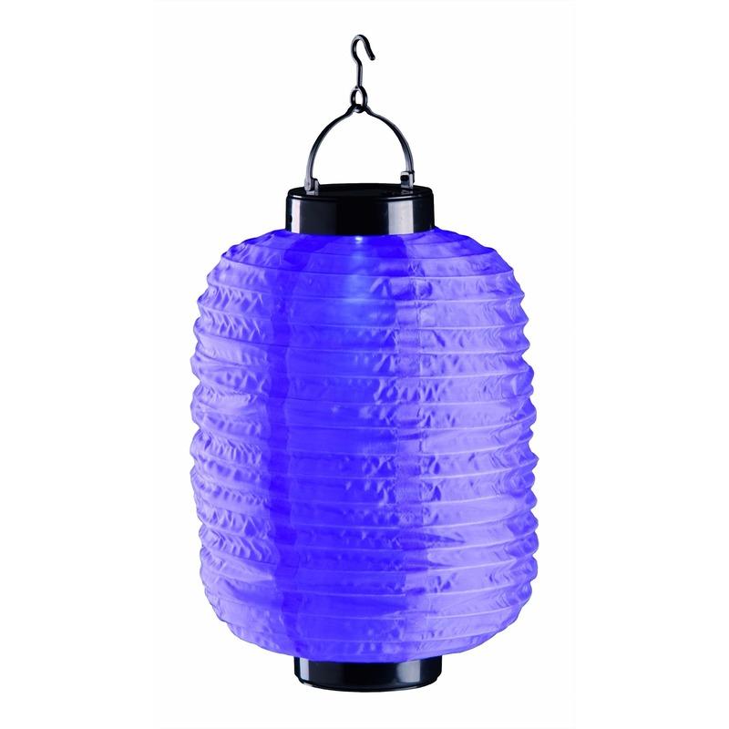 Lampion op zonne energie paars