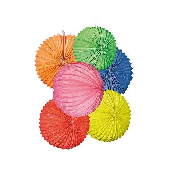 Lampionnen set gekleurd 12 stuks