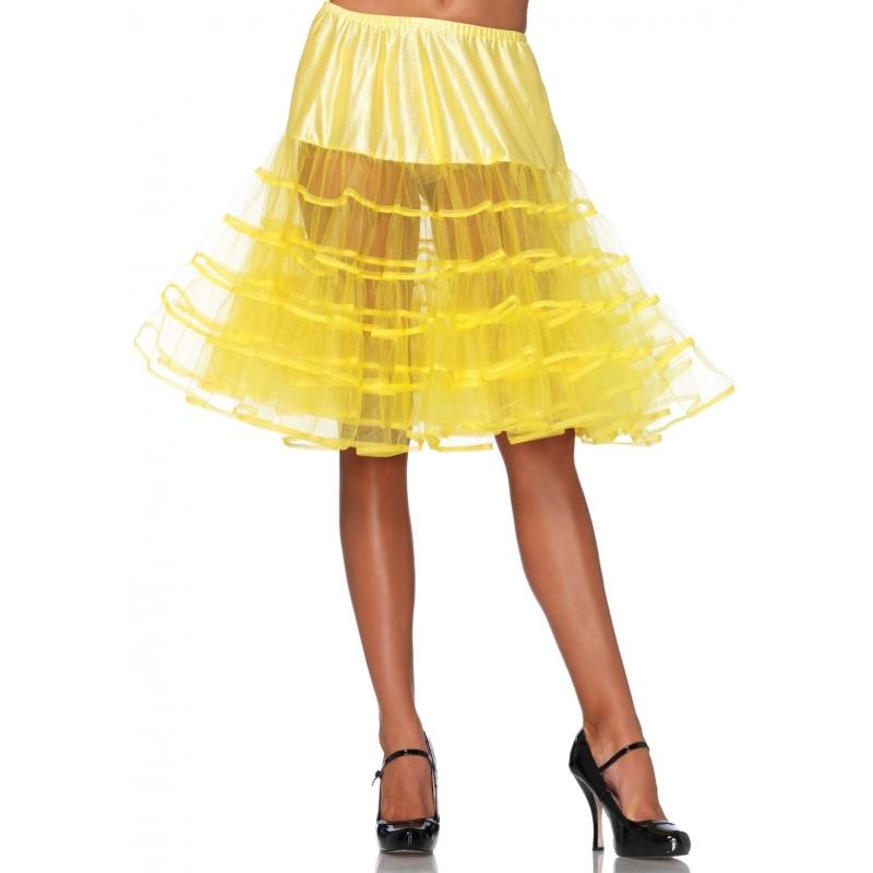 Lange tule onderrok geel voor dames