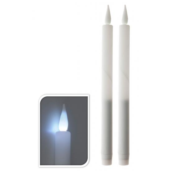 LED licht kaarsen wit