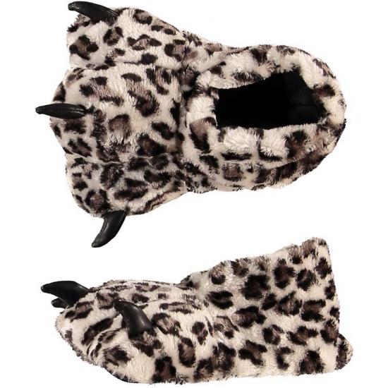 Luipaard poot pantoffels voor dames