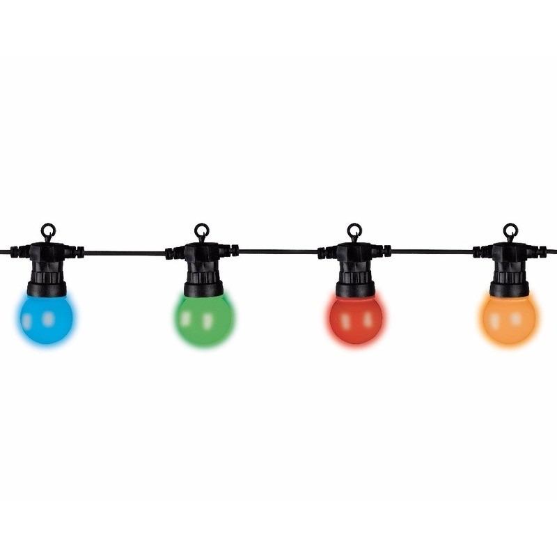 Lumineo buiten lichtsnoer 5 meter met gekleurde LED lampjes