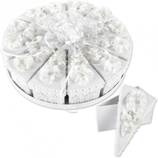 Luxe bruidstaart geschenk doosjes