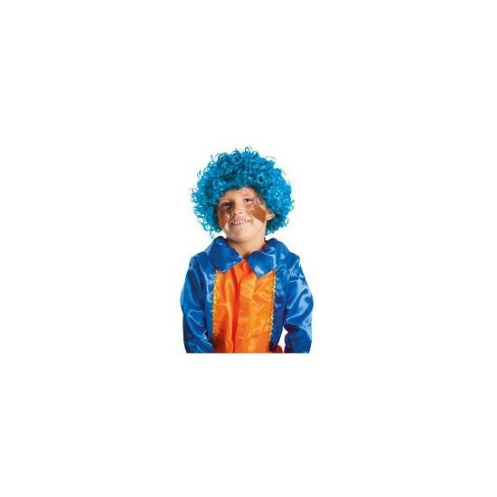 Luxe pruik piet turquoise voor kinderen
