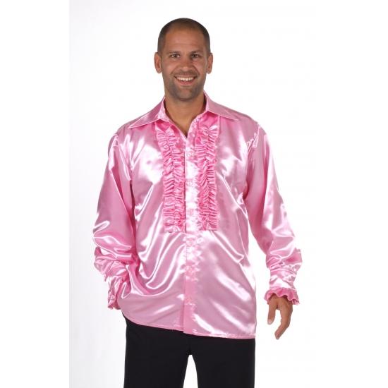 b6de42d7f02 Lichtroze feest blouse voor heren voor een Disco party