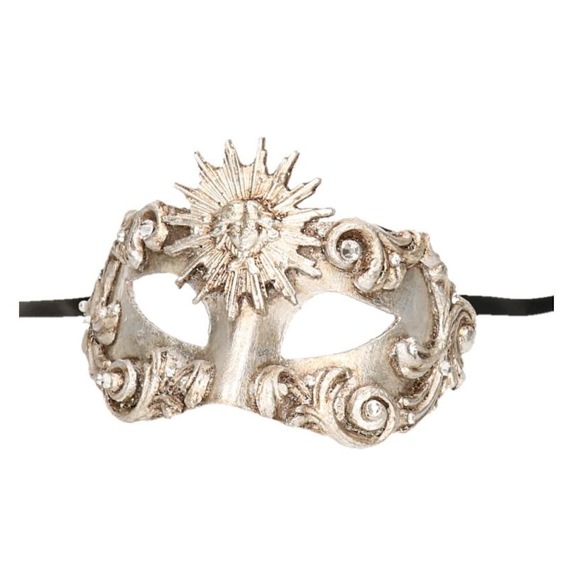 Luxueus barok oogmasker zilver