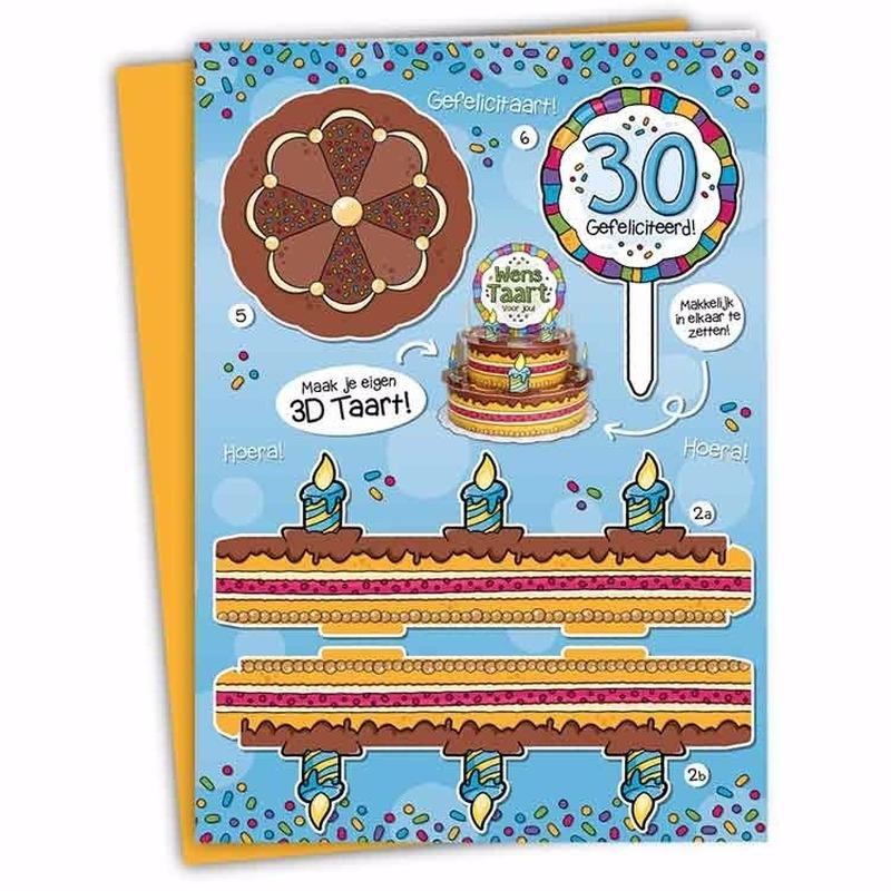 Mega taart voor een 30-jarige verjaardag