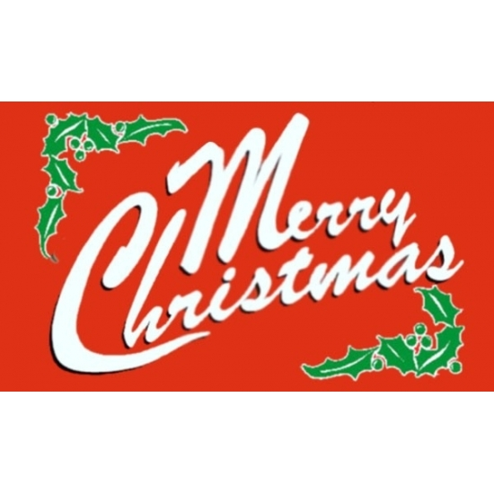 Merry Christmas vlaggen