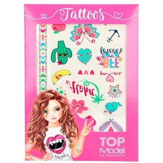 Metallic tatoeages voor meisjes 2 vellen