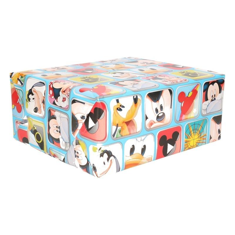 Mickey Mouse geschenkpapier blauw