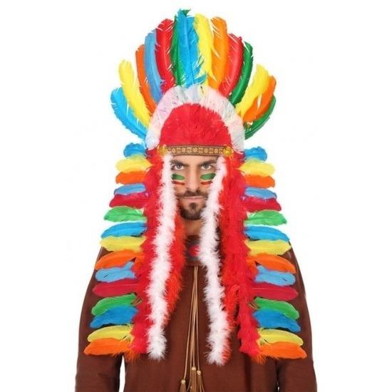 Multikleuren indianen tooi voor heren