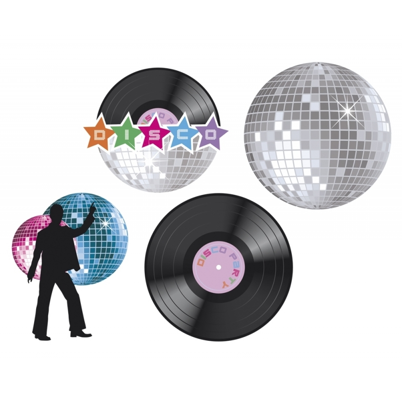 Muur decoraties disco feest