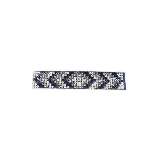 Navy armband met steentjes