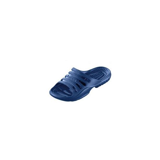 Navy strand slippers voor heren