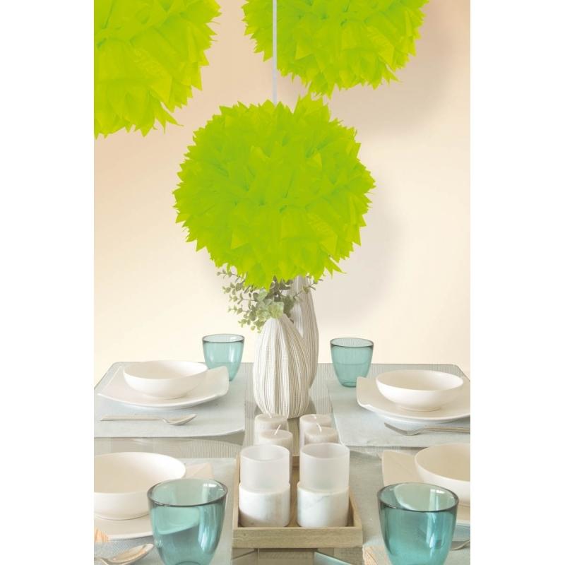Neon groene decoratie bollen