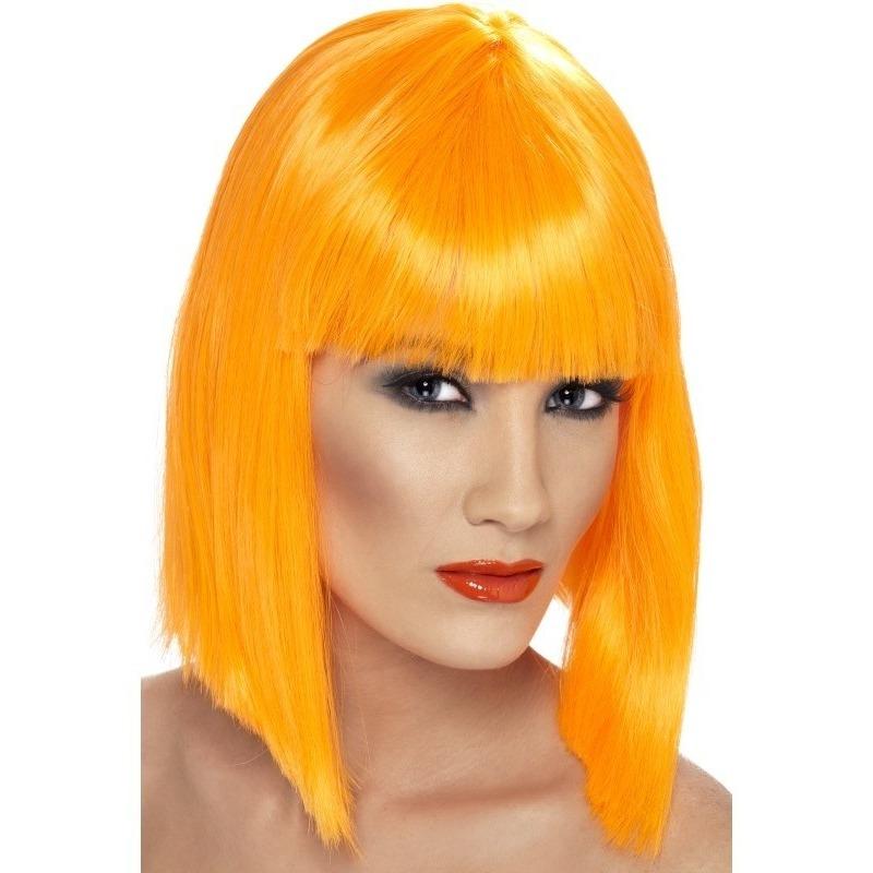 Neon oranje korte damespruik