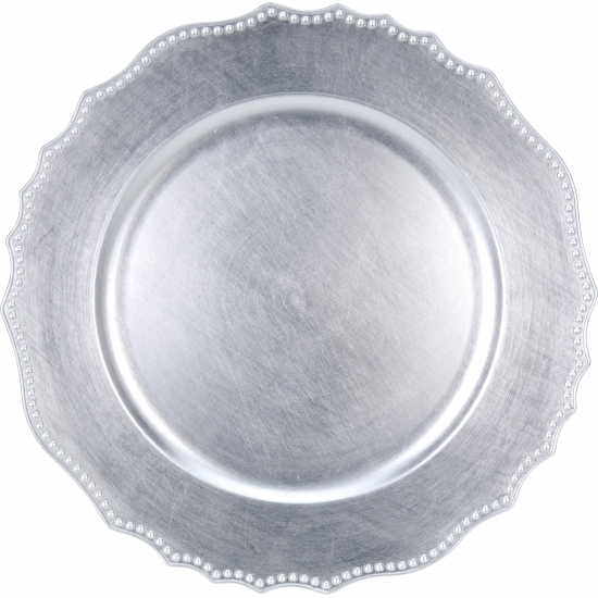 Onderzet bord zilver 33cm deluxe