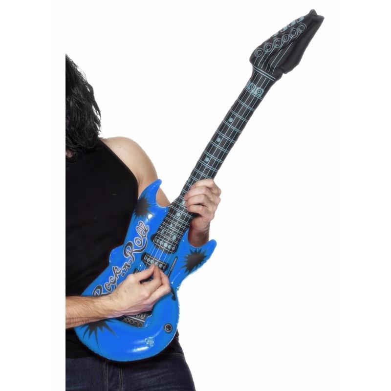Opblaas elektrische gitaar blauw 99 cm