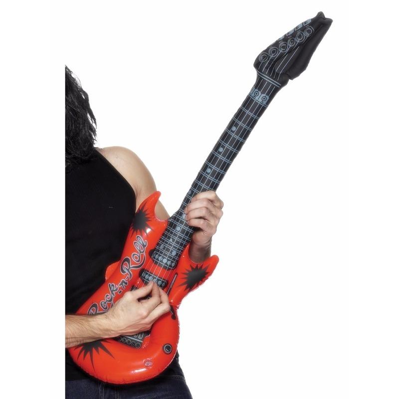 Opblaas elektrische gitaar rood 99 cm