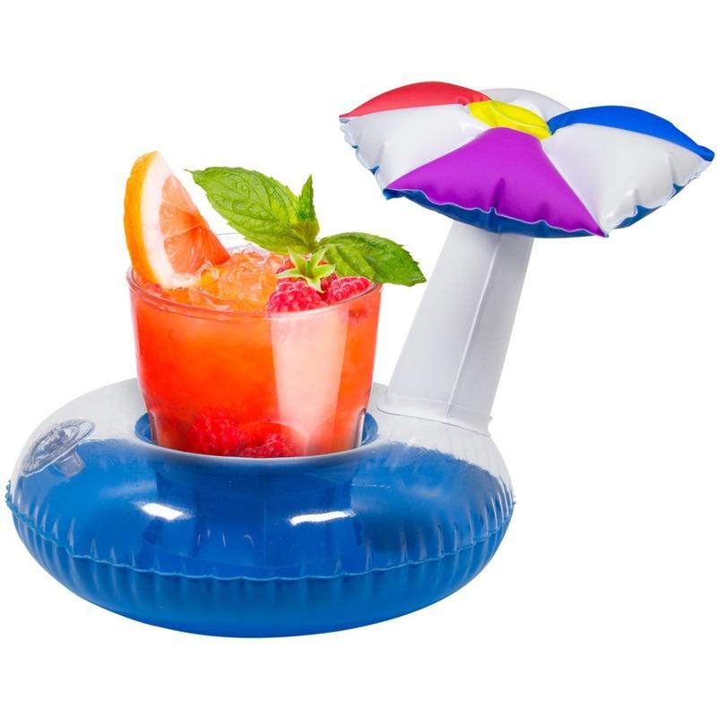Opblaasbare blikjes houder parasol 22 cm