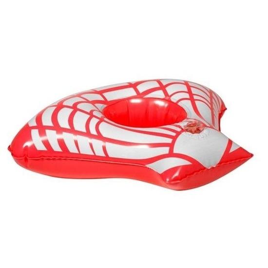 Opblaasbare blikjes houder rode zeeschelp 23 cm