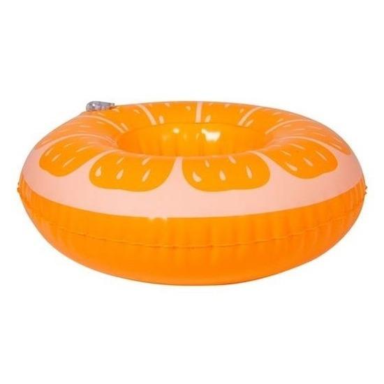Opblaasbare blikjes houder sinaasappel 17 cm