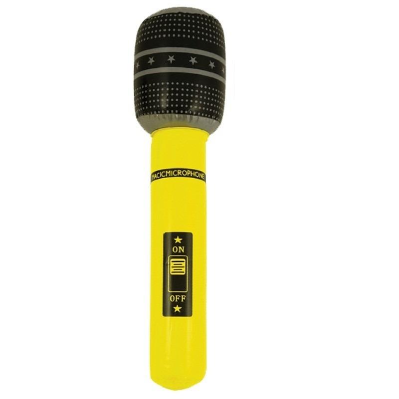 Opblaasbare microfoon geel 40 cm