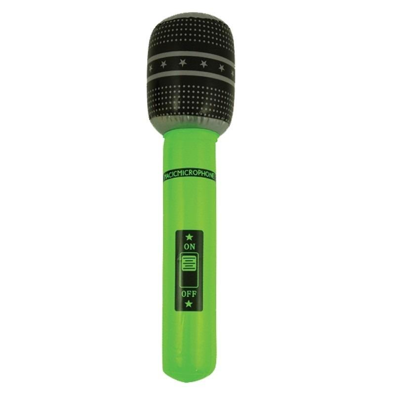 Opblaasbare microfoon groen 40 cm