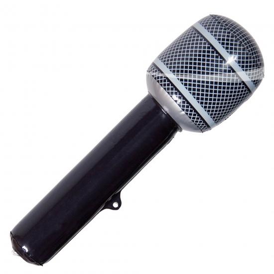 Opblaasbare microfoons zwart