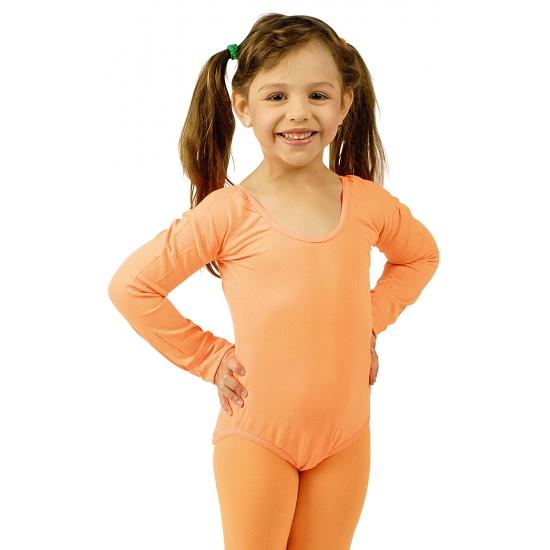 Oranje body pakje verkleedaccessoires voor meisjes