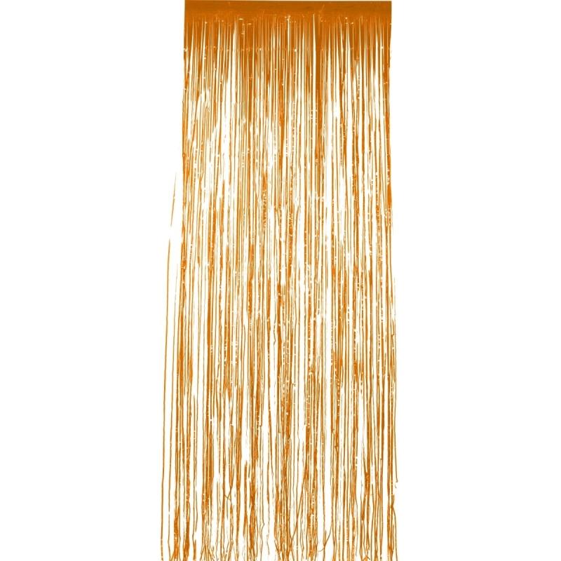 Oranje folie deurgordijnen 2 x 1 meter