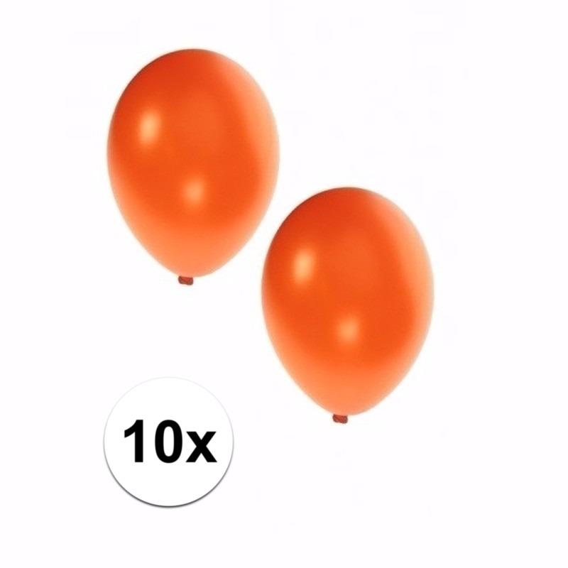Oranje grote ballonnen 10 stuks