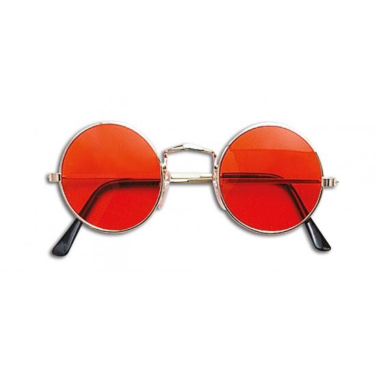 Oranje hippie bril
