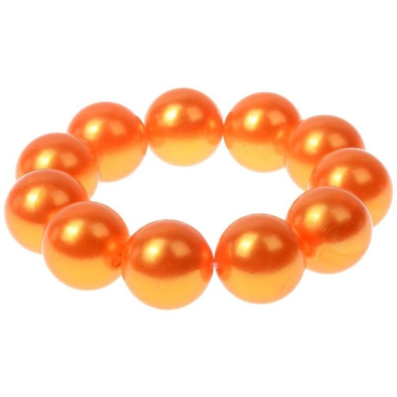 Oranje parelarmband