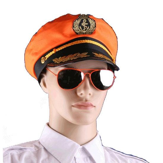 Oranje piloten bril