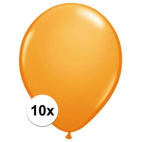Oranje Qualatex ballonnen 10 stuks