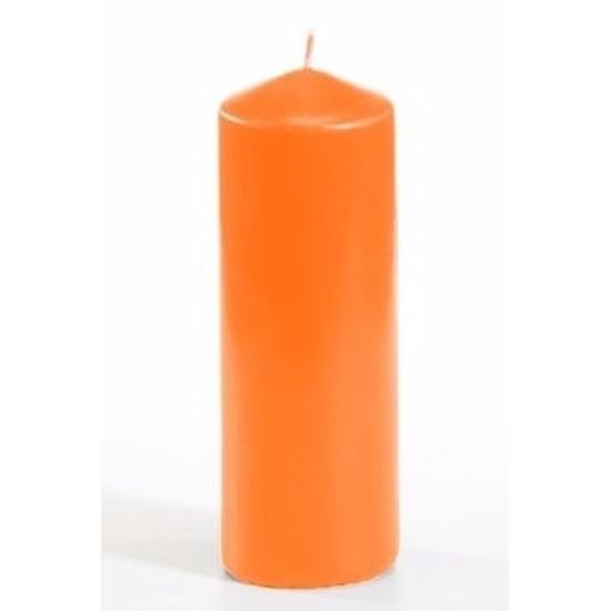 Oranje ronde kaarsjes 16,5 cm